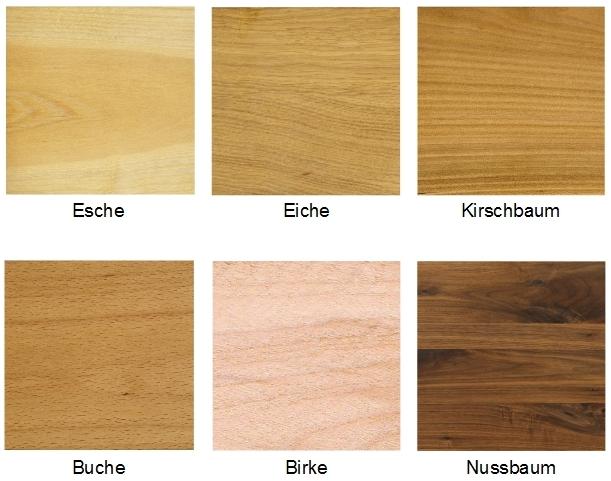 Kleine Auswahl der Holzarten